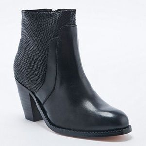 H by Hudson Slade Snake Leather Heeled Ankle Boots